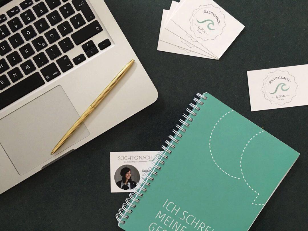 Blogger Konferenzen Visitenkarten Flatlay