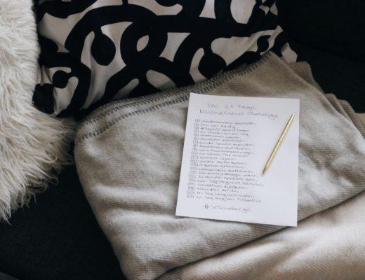 Minimalismus Challenge Kreatiefgründig Süchtig nach Lifestyleblog